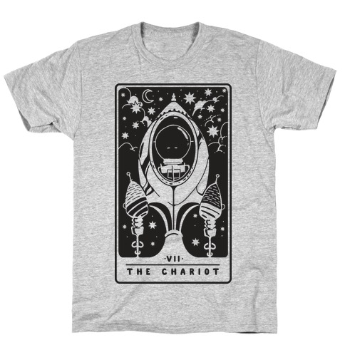 The Chariot Space Rocket Tarot Card T-Shirt