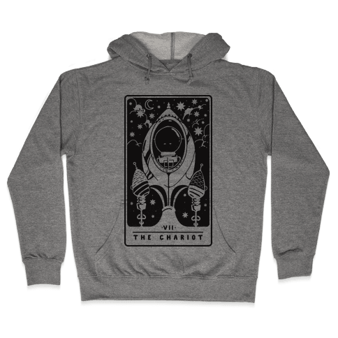 The Chariot Space Rocket Tarot Card Hooded Sweatshirt