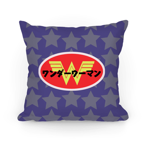 Japanese Wonder Woman Pillow