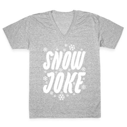 Snow Joke V-Neck Tee Shirt
