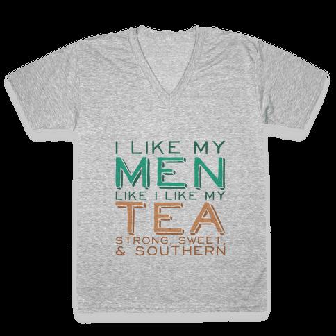 Southern Men Tank V-Neck Tee Shirt