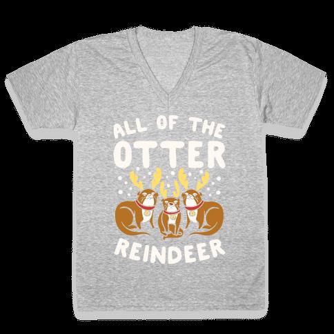 All of The Otter Reindeer V-Neck Tee Shirt