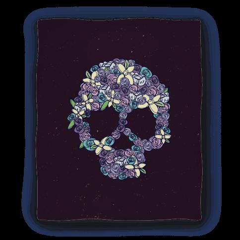 Floral Skull Blanket