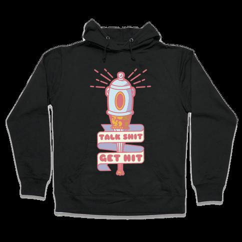 Talk Shit Get Hit Pella Magi Bat Hooded Sweatshirt