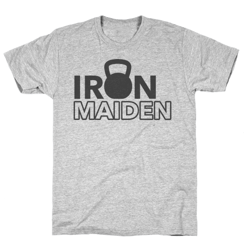Iron Maiden (Kettlebell) Mens T-Shirt
