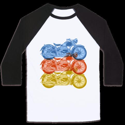 Motorcycle Baseball Tee