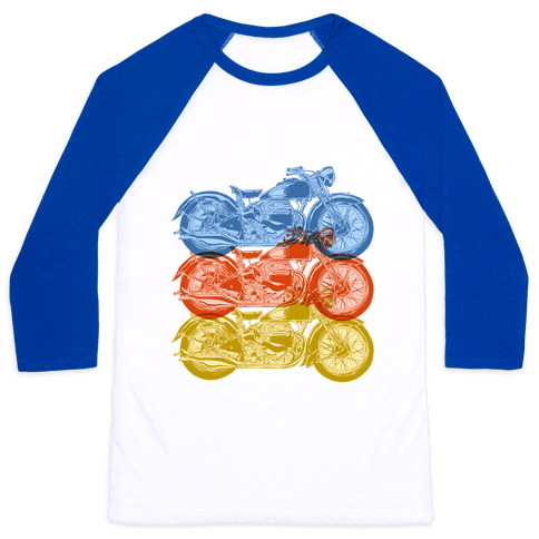 Motorcycle Baseball Tee