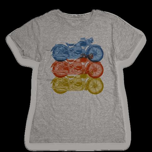 Motorcycle Womens T-Shirt