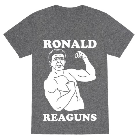 Ronald Reaguns V-Neck Tee Shirt