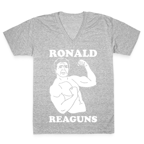 Ronald Reaguns V-Neck Tee Shirt