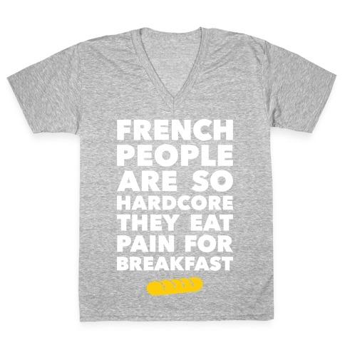 Pain For Breakfast V-Neck Tee Shirt