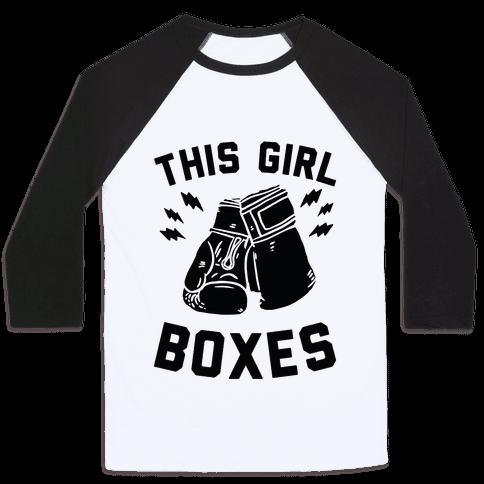 This Girl Boxes Baseball Tee