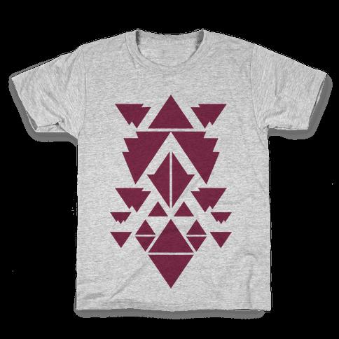 Aztec Pattern (Purple) Kids T-Shirt