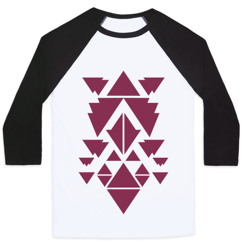 Aztec Pattern (Purple) Baseball Tee