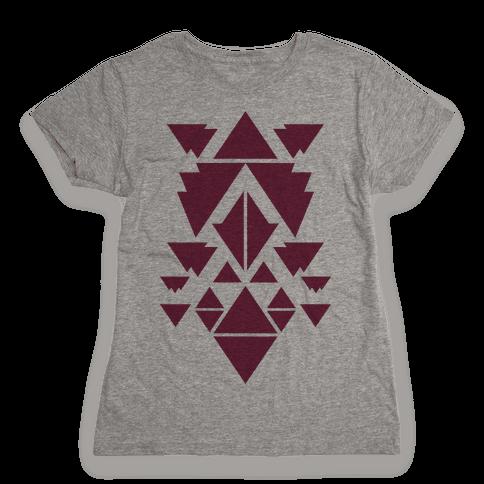 Aztec Pattern (Purple) Womens T-Shirt