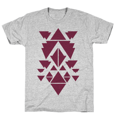 Aztec Pattern (Purple) Mens T-Shirt