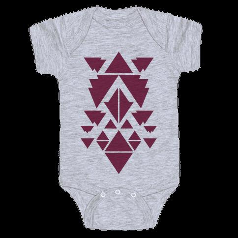 Aztec Pattern (Purple) Baby Onesy