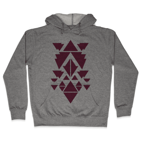 Aztec Pattern (Purple) Hooded Sweatshirt