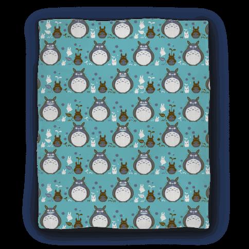 Totoro Pattern Blanket Blanket
