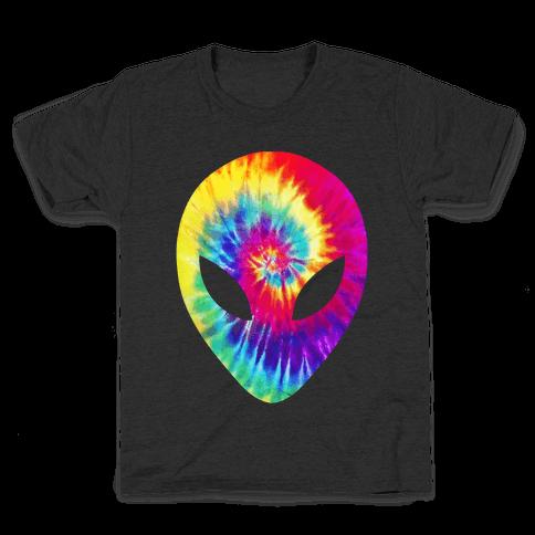 Tie Dye Alien Head Kids T-Shirt