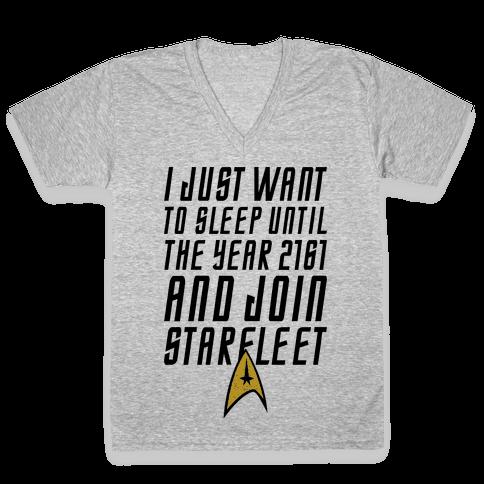 Join Starfleet V-Neck Tee Shirt