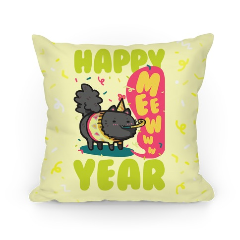 Happy Mew Year Pillow