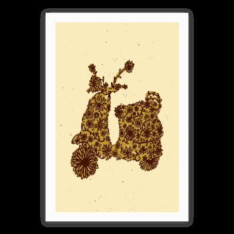 Floral Vespa Poster