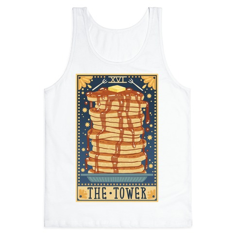 Tarot Card: The Tower (Of Pancakes) Tank Top