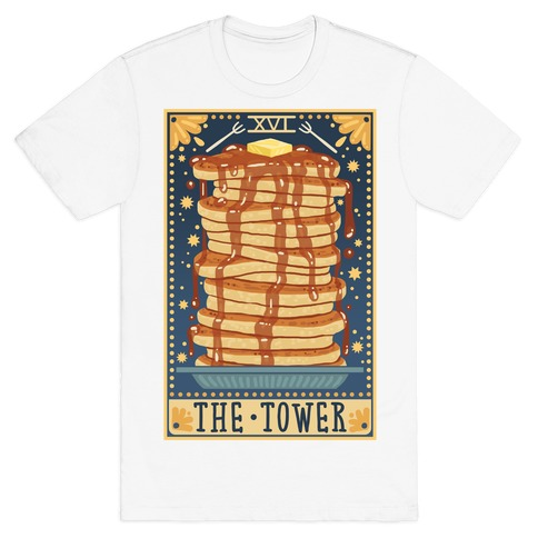 Tarot Card: The Tower (Of Pancakes) T-Shirt