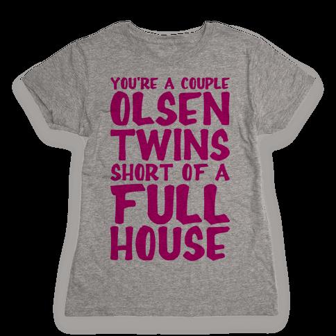 A Couple Olsen Twins Short Womens T-Shirt