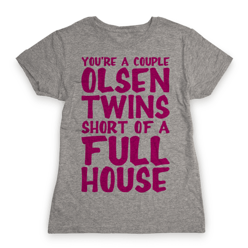 A Couple Olsen Twins Short Womens T-Shirt