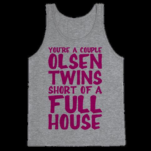 A Couple Olsen Twins Short Tank Top