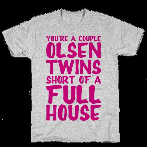 A Couple Olsen Twins Short Mens T-Shirt