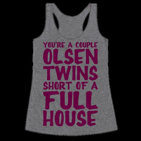 A Couple Olsen Twins Short Racerback Tank Top