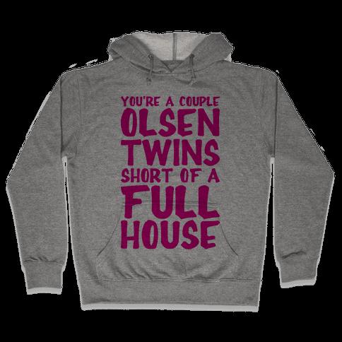 A Couple Olsen Twins Short Hooded Sweatshirt