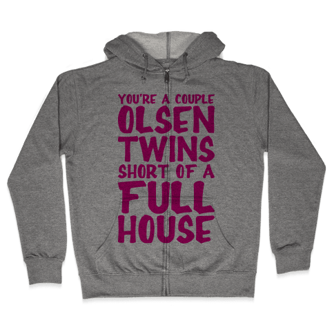 A Couple Olsen Twins Short Zip Hoodie