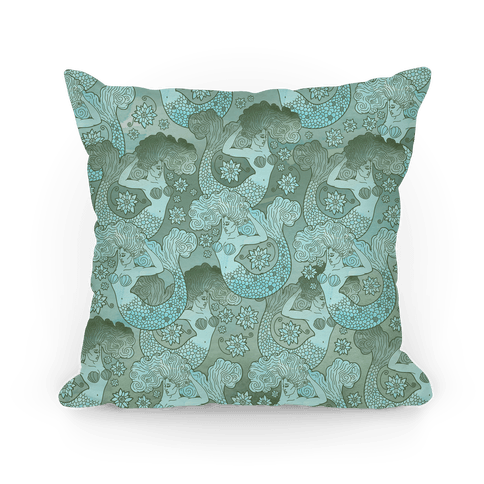 Siren and Lotus Pillow