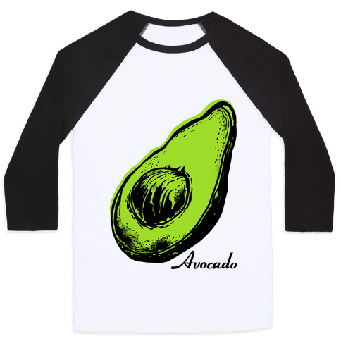 Pop Art Avocado Baseball Tee