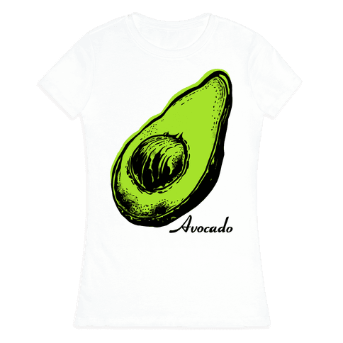 Pop Art Avocado Womens T-Shirt