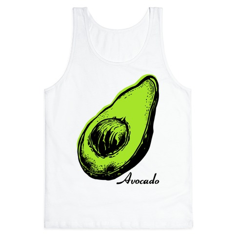 Pop Art Avocado Tank Top