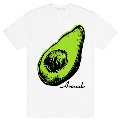 Pop Art Avocado Mens T-Shirt