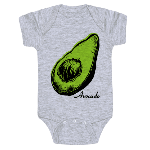 Pop Art Avocado Baby Onesy