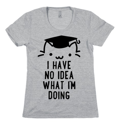 Graduation Cat Womens T-Shirt