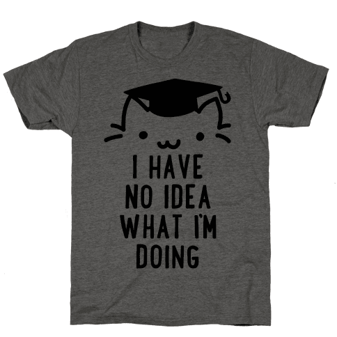Graduation Cat Mens T-Shirt