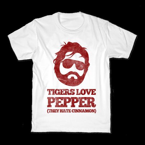 Tigers Love Pepper, They Hate Cinnamon Kids T-Shirt