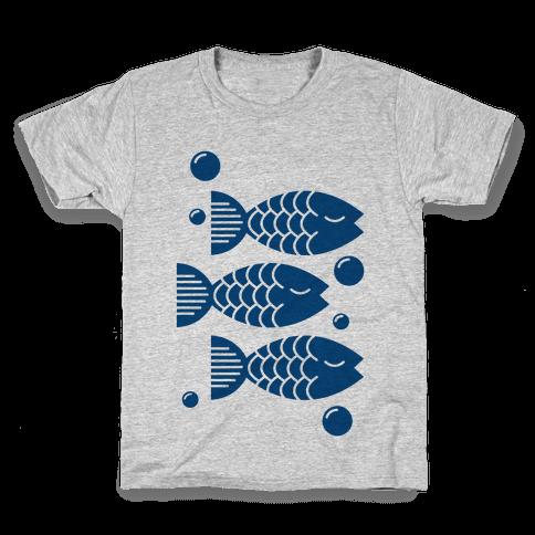 Geometric Fish Kids T-Shirt
