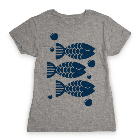 Geometric Fish Womens T-Shirt