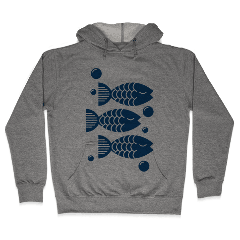 Geometric Fish Hooded Sweatshirt