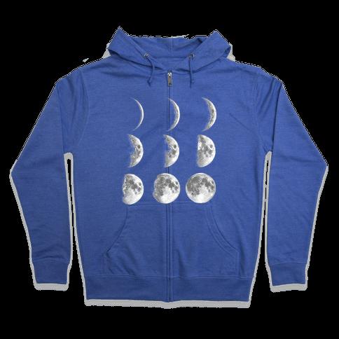 Moon Phases Zip Hoodie