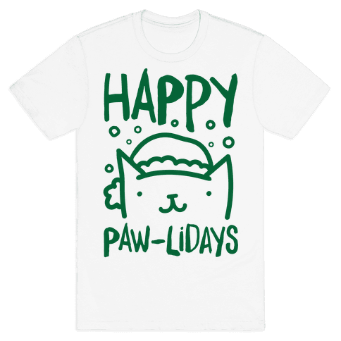 Happy Paw-lidays  Mens T-Shirt